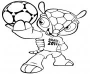 Printable FIFA World Cup 2014 Brasil Mascot coloring pages