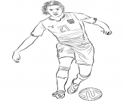 Printable edinson cavani fifa world cup football coloring pages