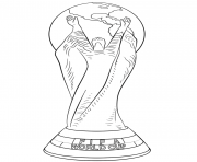 fifa world cup football trophy coloring pages