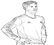 Printable sergio ramos fifa world cup football coloring pages