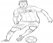 Printable jordi alba fifa world cup football coloring pages