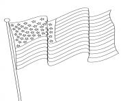 Printable american flag usa 4th july coloring pages