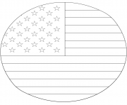 american flag in circle coloring pages