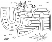Printable usa doodle stars coloring pages