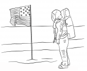 first man on the moon coloring pages