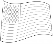 Printable usa flag coloring pages