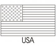 Printable usa flag easy coloring pages