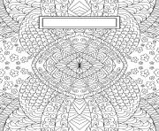 Printable Binder Cover Adult Relaxing coloring pages