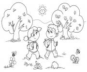 Printable Kindergarten Back To School coloring pages