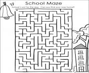 back to school maze coloring pages