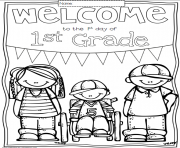 Printable great welcome back to school coloring pages