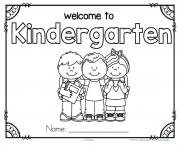 Printable back to school preschool theme activities kindergarten coloring pages