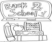 Printable back to school september coloring pages