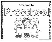 back to school preschool coloring pages