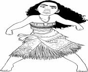 Printable moana is not happy coloring pages