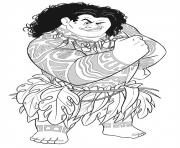Printable maui strong moana coloring pages