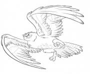 Printable maui transformed into eagle coloring pages