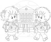 Printable back to school kids coloring pages
