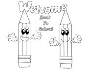 Printable welcome back to school coloring pages
