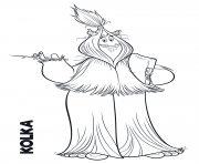 Yeti from Smallfoot Kolka coloring pages