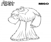 Printable Smallfoot Migo coloring pages