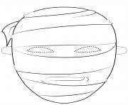 egyptian mummy mask outline halloween coloring pages