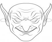 green goblin mask outline halloween coloring pages