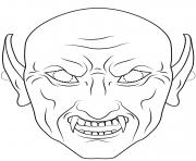 vampire mask outline halloween coloring pages