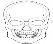 skull mask outline halloween coloring pages