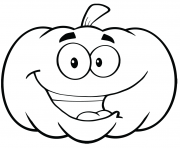 Printable cartoon pumpkin halloween coloring pages