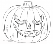 Printable jack o lantern scary halloween coloring pages