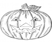 Printable jack o lantern halloween coloring pages