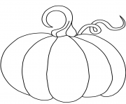 Printable pumpkin halloween easy coloring pages