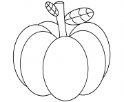Printable pumpkin halloween orange october coloring pages