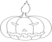 Printable halloween pumpkin halloween coloring pages