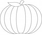 Printable pumpkin halloween blank coloring pages