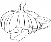 Printable pumpkin halloween fall leaves coloring pages