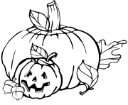 Printable pumpkins halloween coloring pages