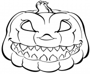 Printable scary pumpkin halloween coloring pages