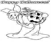 disney halloween piglet pumpkin coloring pages