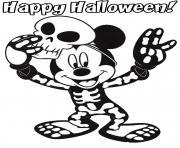 mickey mouse costume disney halloween coloring pages