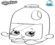 Printable Shopkins Milks coloring pages