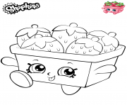 Printable Strawberries shopkins 2019 coloring pages