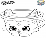 Printable Honey Lemon Teacup Shopkins coloring pages