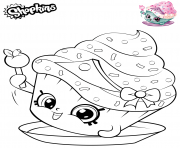 Printable Shopkins Cupcake Princess coloring pages