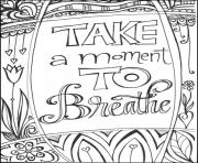 take a moment to breathe for Teens