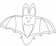 bat halloween for kids coloring pages