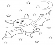 cartoon bat halloween coloring pages