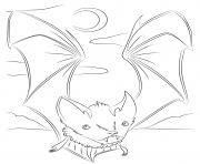 cute vampire bat halloweens coloring pages
