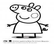 Printable happy peppa pig coloring pages